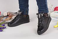 Женские слипоны AVK кожаные черные 0047АВМ