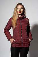 Женская демисезонная куртка. Код модели К-66-37-18. Цвет марсала.
