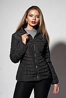 Женская демисезонная куртка. Код модели К-66-37-19. Цвет черный.