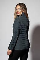 Женская демисезонная куртка. Код модели К-66-37-19. Цвет темно зеленый.