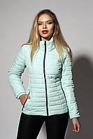 Женская демисезонная куртка. Код модели К-66-37-20 Б. Цвет мята.