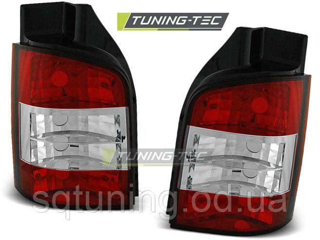 Задні ліхтарі VW T5 04.03-09 RED WHITE