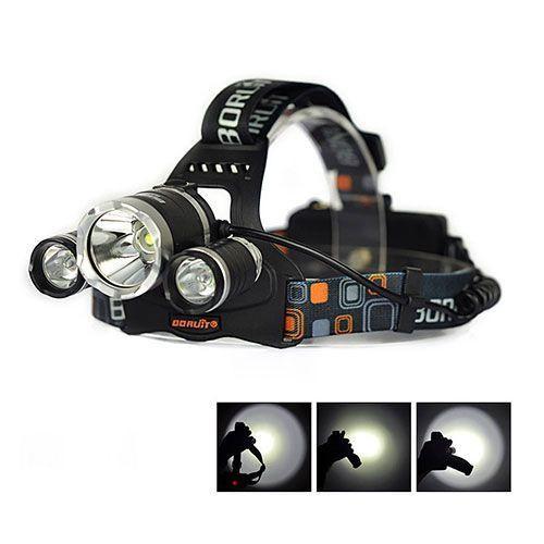 Налобный тройной фонарик BL-RJ-3000-T6 , ліхтарик Police мощный