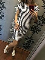 Женское платье - туника в полоску