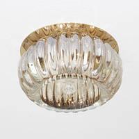 Точечный декоративный светильник с кристалом Feron С1010 жёлтый золото