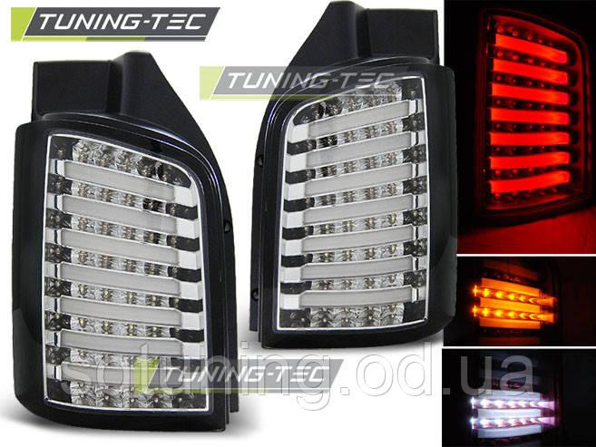 Задні ліхтарі VW T5 04.03-09 / 10-15 CHROME BLACK LED