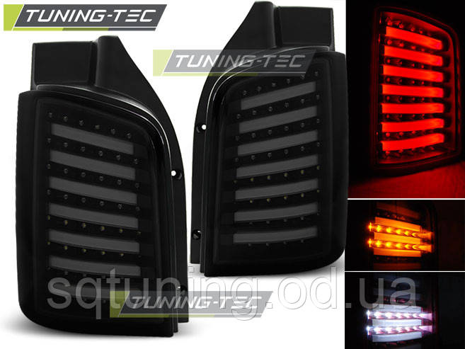 Задние фонари VW T5 04.03-09 / 10-15 SMOKE BLACK LED