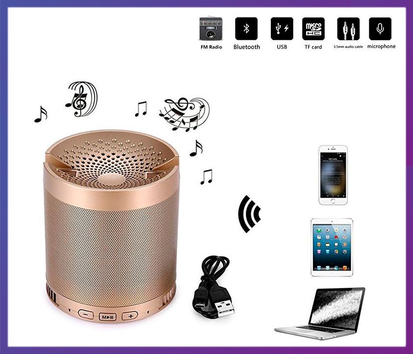Портативная MP3 колонка HFQ3 (BT Bluetooth/USB/FM SD)