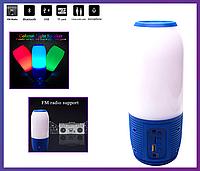 Портативная MP3 колонка c цветной подсветкой Q690 Puls (BT Bluetooth/USB/FM SD), фото 1