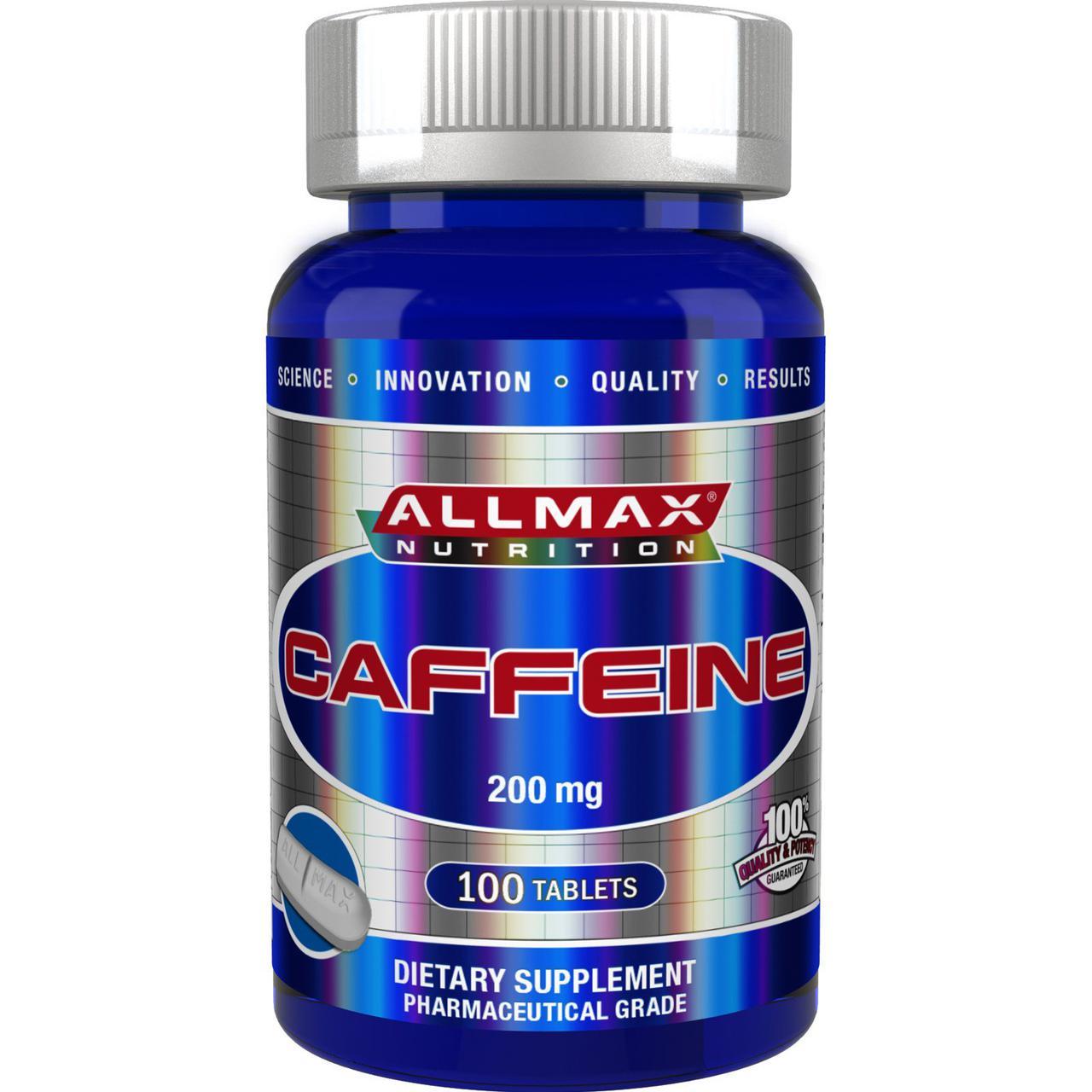 Кофеин AllMax Caffeine 200 mg 100 tab