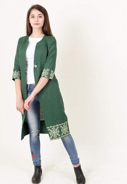 Зеленый кардиган модного фасона 2fc81ff501231