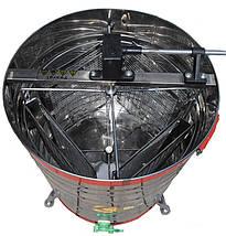 Медогонка  поворотная на 4 рамки , нержавеющая сталь , на малых ножках, фото 2