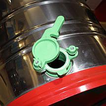 Медогонка  поворотная на 4 рамки , нержавеющая сталь , на малых ножках, фото 3