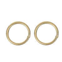 Колечко, Разрезное, Круглое, Нержавеющая сталь, Цвет: золото, 3.5 мм
