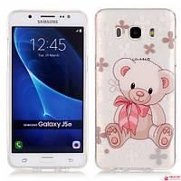 Чехол Накладка Для Samsung Galaxy J5 2016 J510 (Мишутка)
