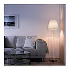 Светильник напольный IKEA NYFORS никелированный белый 903.031.06, фото 3