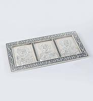 Триптих икона в машину серебряный 925 вес 19 грамм Молитва Водителя
