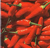 Салфетка для декупажа Красный перец, 33х33 см