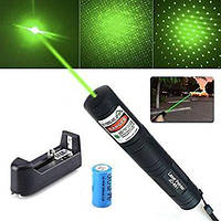 Лазерная указка Laser Pointer JD-851, зеленый лазер, аккумулятор 16340, фото 1