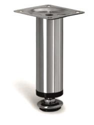 Ножка мебельная круглая д.30мм h100мм (NL05) хром, металл