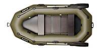 Лодка BARK B-260P, Двухместная Надувная ПВХ Гребная Резиновая Барк Б-260П, Реечный коврик, Привальный брус