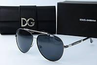 Солнцезащитные очки Dolce & Gabbana темно-серые, фото 1