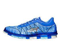 Стильні чоловічі кросівки Skechers Go Flex Walk Blue