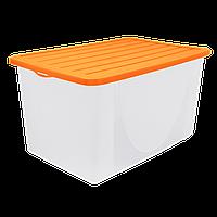 """Емкость для хранения  продуктов/вещей 9,6 л. (оранжевая) """"Алеана"""""""