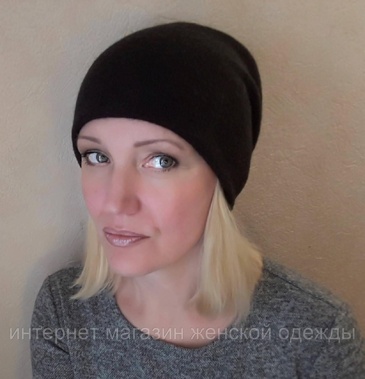 Черная шапка женская