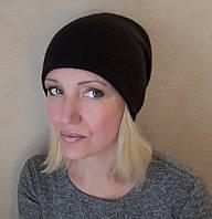Черная шапка женская, фото 1