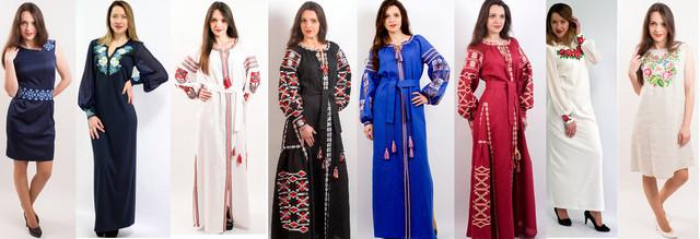 Платья, Фольклорный стиль