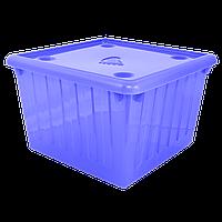 Емкость для хранения вещей с крышкой - 25 л фиолетовая