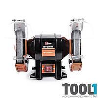 Станок точильный настольный STORM 400 Вт, 0-2950 об/мин, шлифкруг 200 мм. INTERTOOL WT-0820