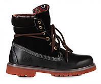 Меховые женские ботинки Timberland Bandits Black W, фото 1