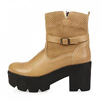 Ботинки женские на толстом каблуке Shoes 09W