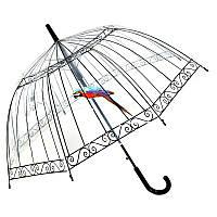 Зонт прозрачный,купольный (зонт-трость), фото 1
