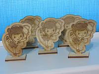 Лазерная резка деревянных фигурок с гравировкой под заказ, фото 1