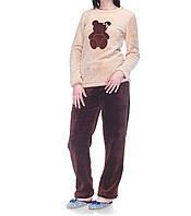 """Подростковая теплая пижама """"Мишка"""" для девочки"""