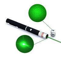 Лазерна указка 803-5, зелений лазер (харчування 2хААА, 5 насадок)