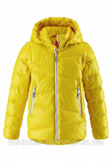 Куртка-жилетка пуховая для мальчиков 2 в 1 Reima MARTTI 531291-2390. Размеры 104-164.