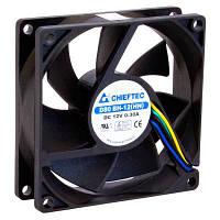 Вентилятор Chieftec Thermal Killer (AF-0825PWM) 80*80*25мм, 1-ball bearing, 4pin, 2700RPM, 35dB, черный пластик
