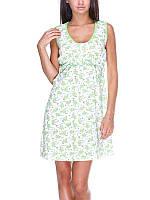 Ночная рубашка Sabina для кормящих мам арт.5004 (зеленый цветочек)