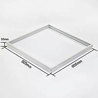 Рамка накладного монтажа для светодиодной панели 60*60см, фото 1