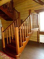 Изготовление лестниц из дерева на заказ, фото 2