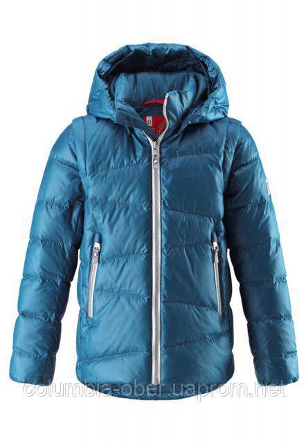 Куртка-жилетка пуховая для мальчиков 2 в 1 Reima MARTTI 531291-7900. Размеры 110-152.