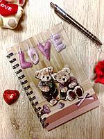 Блокнотик с милыми мишками к 8 марта