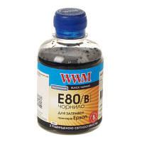 Чернила WWM Epson L800 черный (E80/ B) 200г
