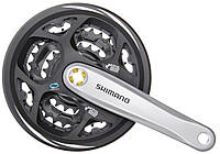 Шатуни Shimano Altus FC-M311 175 мм 48x38x28 з захистом сріблястий