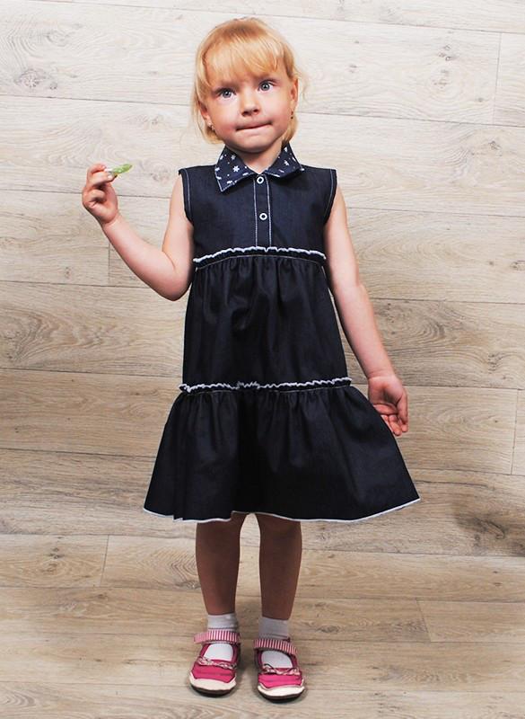 Платье-сарафан джинс ( от 6 месяцев до 3 лет). Разные расцветки.