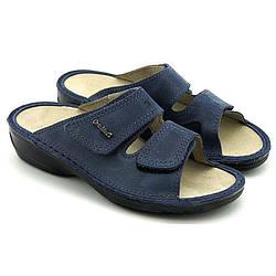 OrtoMed 3701 Синие, Липучка - Женские ортопедические босоножки для проблемных ног